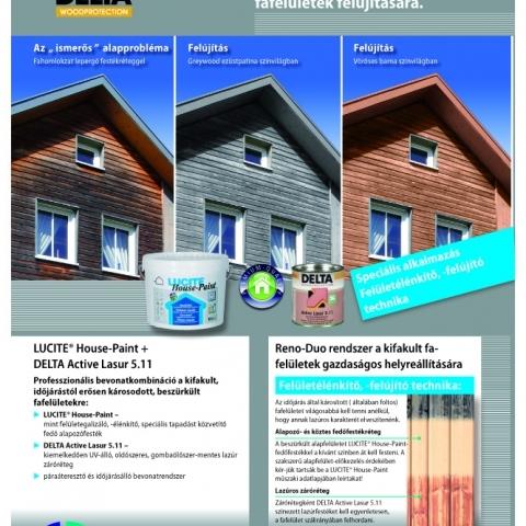 LUCITE House-Paint + DELTA Active-Lasur 5.11 festékrendszer