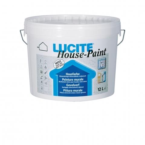 Lucite House Paint - akrildiszpenzió-bázisú selyemfényű homlokzatfesték
