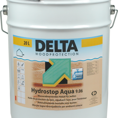 Delta Hydrostop Aqua 9.06- vizes bázisú impregnáló favédő olaj különösen erős vízlepergető hatással
